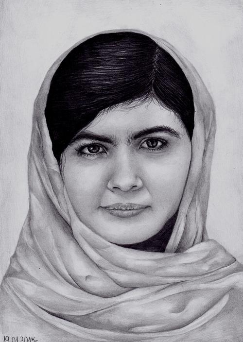 Malala Yousafzai by AffichE